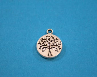 Small  Tree of Life Pewter Charm 12 x 15 mm  (8  charms)