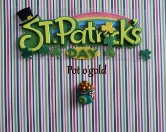 St-Patrick's Day Pot o'gold Pot-O-Gold Silicone Mold Cake Tool Fondant Candy Cupcake Topper DIY Craft Mold