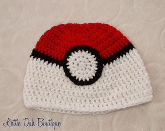 Pokemon-Inspired Pokeball Hat