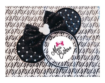 Quilted Black Bow Minnie Ears