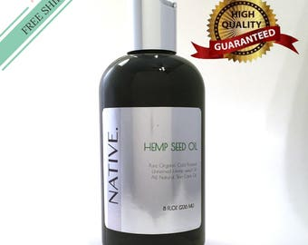 Rare Hemp Seed Oil High Quality Pure Natural cold pressed Organic oil by Native.