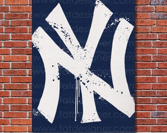New York Yankees Graffiti- Art Print - Perfect for Mancave