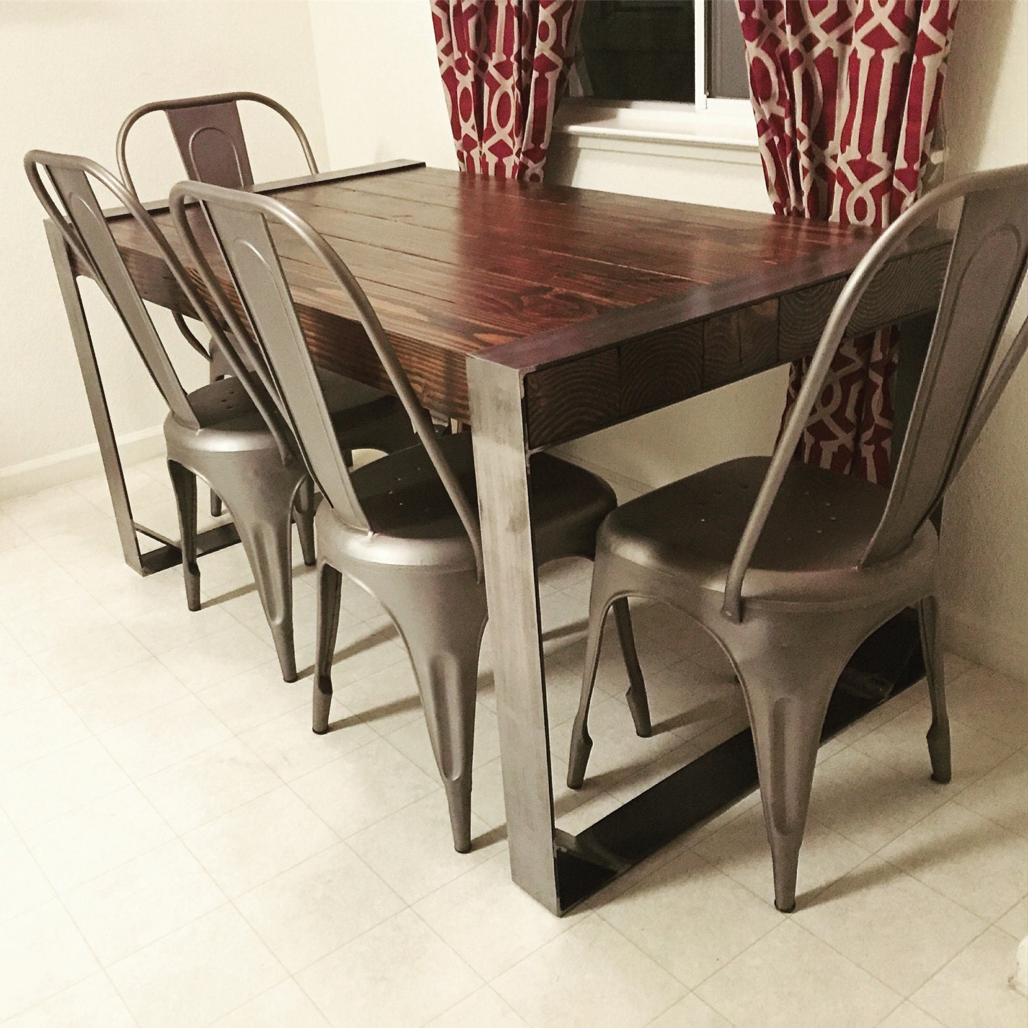 Modern Industrial Dining Table Sets: Modern Industrial Dining Table