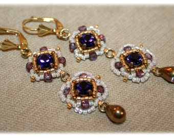 Pompadour earrings / vintage/baroque/romantic/Duchess/marie antoinette style