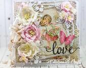 Shabby Chic Love Valentines/Wedding Card