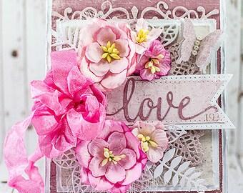 Shabby Chic Love Handmade Card