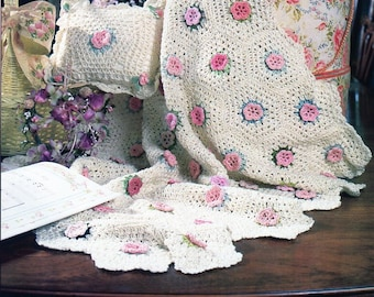 Vintage Crochet Baby Blanket Pattern Etsy