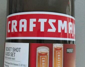 Craftsman socket shot glasses set