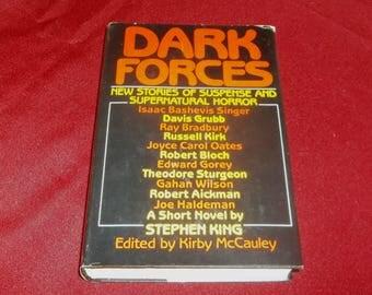 DARK FORCES Supernatural Horror Anthology Short Stories Hardcover Book Ray Bradbury, Joyce Carol Oates, Stephen King, Ramsey Campbell 1980