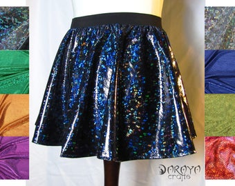 Holographic skirt different colors