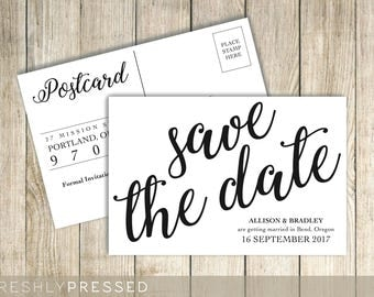 Save The Date - Custom Postcard Announcement