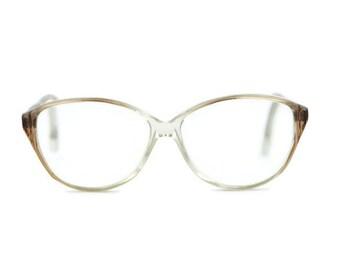 round eyeglass frames k7ie  Wagner & K眉hner WK* round Eyeglasses Frames glasses brown clear transparent  Vintage VTG Hipster nerd