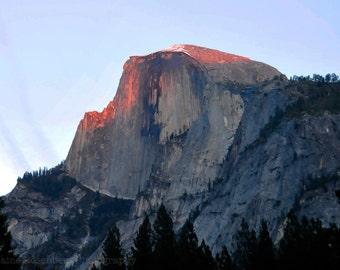 Sunset on Half Dome , Yosemite, Wall Art, Nature, Sunset, Landscape, Travel, Nature Photography