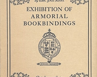 1935 Rare book catalog Armorial Bookbindings 1500-1800 PIERPONT MORGAN LIBRARY