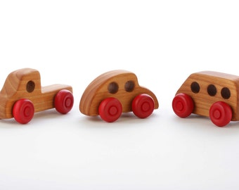 Wooden Cars - Set of 3