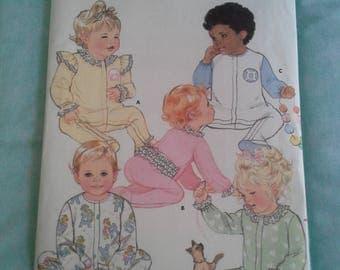 Butterick Classics 5742, 5742, vintage pattern, diy infant jumsuit, diy jumsuit size NB-M, diy baby clothing, diy infant clothing