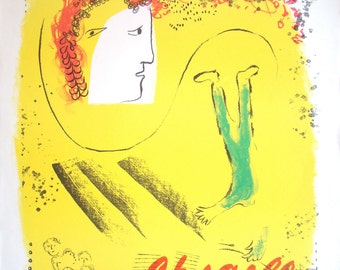 Chagall Poster for Galerie Maeght Le fond jaune