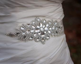 SALE Wedding Belt   Rhinestone Bridal Belt   Wedding Sash   Crystal Wedding Sash   Bridal Belt   Rhinestone Bridal Sash   Bridal Accessories