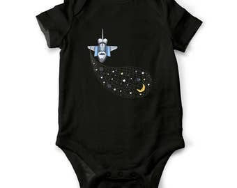 Space Baby outfit, Space bodysuit, Space ship toddler shirt, Baby shower gift, Baby gift