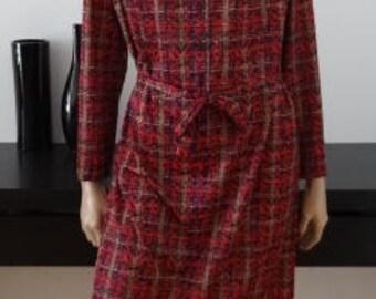 Robe vintage motifs colorés taille 44 / uk 16 / us 12