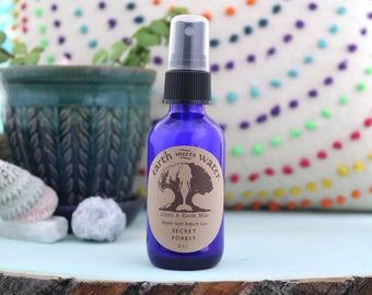 Secret Forest Linen and Room Mist - Room Spray - Linen Spray - Body Mist - 2 oz Cobalt Blue Bottle - Air Mist - Room Deodorizer