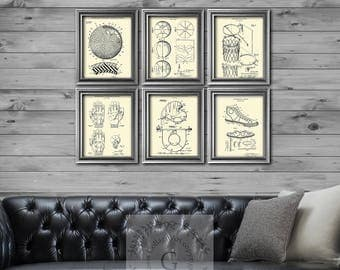 Basketball Decor set of 6 prints, Basketball gifts, Basketball Gift for Dad, Basketball gift for men, Basketball room decoration idea.