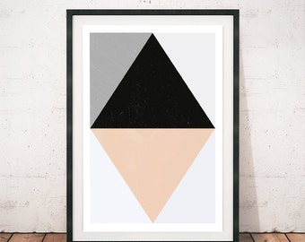 Geometric print, Abstract art, Geometric art, Mid century modern, Abstract poster, Scandinavian print, Minimalist art, Watercolor abstract
