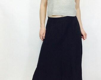 Black linen skirt | Etsy