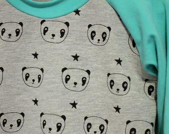 Sweater - 3-4 years - PANDAS - long sleeve / raglan