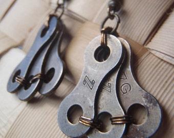 Upcycled Bike Chain Earrings