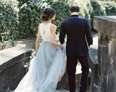 Grey Tulle Skirt/Floor Length Tulle /Adult Women Tulle Skirt Long Skirt/Wedding Dress/Bridesmaid/Bachelorette TuTu/Wedding dress/Blush tutu