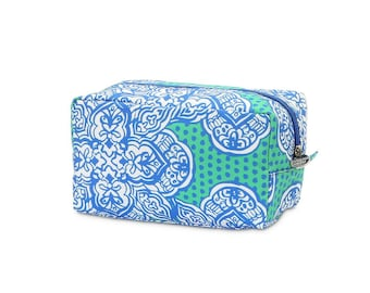 Zipper Cosmetic Pouch, Monogrammed