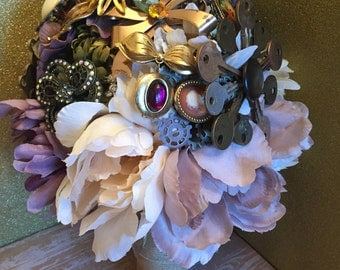 Steampunk Broach Bouquet