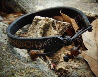 """Leather Bracelet/Anklet Adjustable 9.5"""" to 12"""""""
