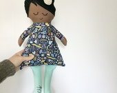 PERSONALIZED fabric doll, rag doll gift for kids, cloth doll gift for toddlers, ragdoll, baby shower gift, easter gift, boy doll, girl doll