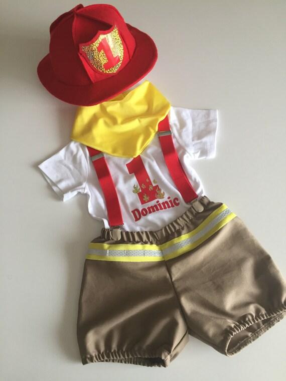 Red Fireman Theme Smash Cake