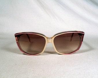 fabulous vintage sunglasses lunettes eyeglasses JEAN LOUIS SCHERRER carved frame france