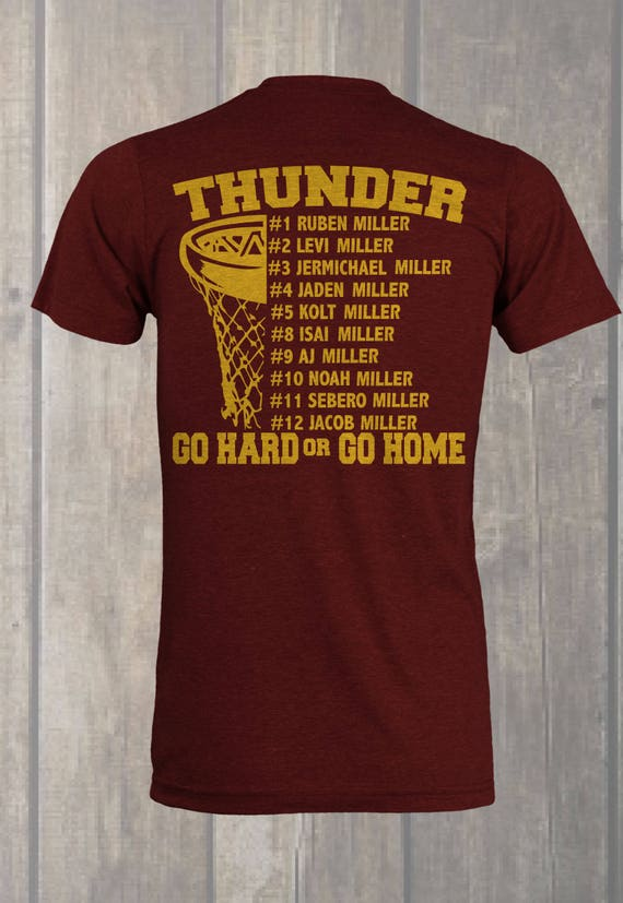 Custom Basketball Roster T-shirt Design