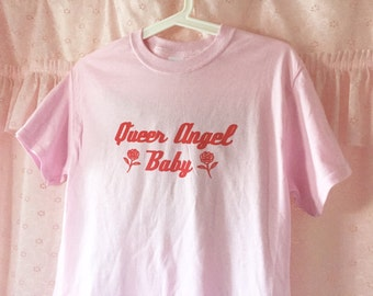 Queer Angel Baby in White or Pink T-Shirt - Unisex Sizes