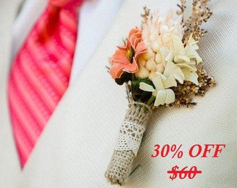 rustic boutonniere, bridal accessories, rustic wedding, artificial flowers, wedding boutonniere