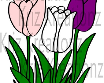 Tulips SVG Cut File