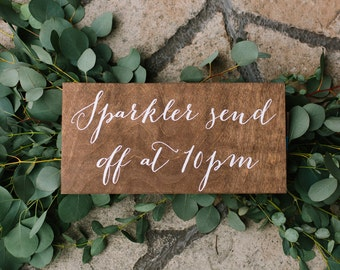 Sparkler send off sign, sparkler sendoff sign, wedding sparkler sign, wood sparkler sign, wood wedding signs, wedding signs, wood