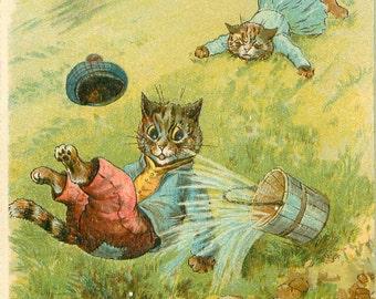Jack And Jill, Jack Jill, Jill And Jack, Jill Jack, Jack And, Jill And, And Jill, And Jack, Jack Cats, Louis Wain, Wain Cats, Raphael Tuck