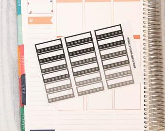 18 blank stickers, weekly habbit bar sticker, box stickers, blank label, planner stickers, neutral scrapbook reminder happy planner sticker