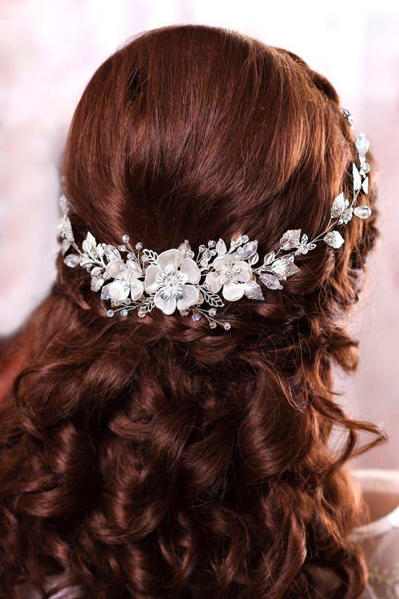 Bridal hair piece Bridal headband Wedding head band Bridal hairpiece Bridal headpiece Wedding head piece Pearl hair piece Bridal hair vine