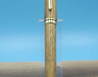Hand Turned Designer Twist Ball Point Pen with an Oak Barrel