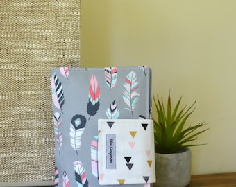 Nappy Wallet, diaper wallet - Feathers