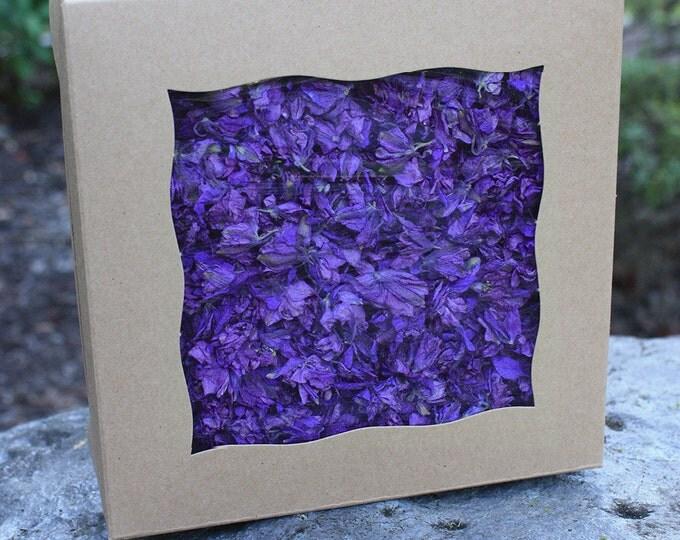 BULK Purple LARKSPUR Petals - 10 Cups Natural Dried Flower Confetti / Biodegradable Confetti