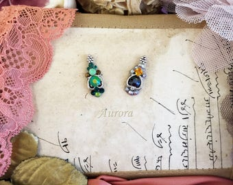 Aurora - green/hematite- Bindi for Tribal, Fusion, ATS, oriental bellydance