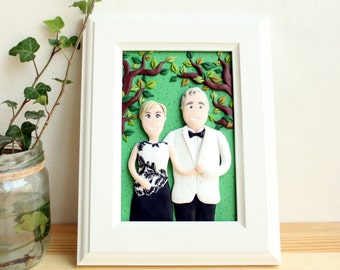 Custom family portrait, personalized couple portrait, family illustration, mom and dad custom gift, Valentine's Day gift, family picture